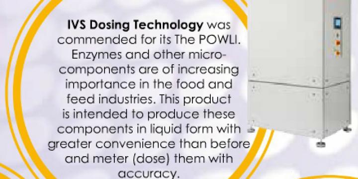 IVS Dosing Tecnnology - POWLI Victam Grapas innovation award Milling and Grain